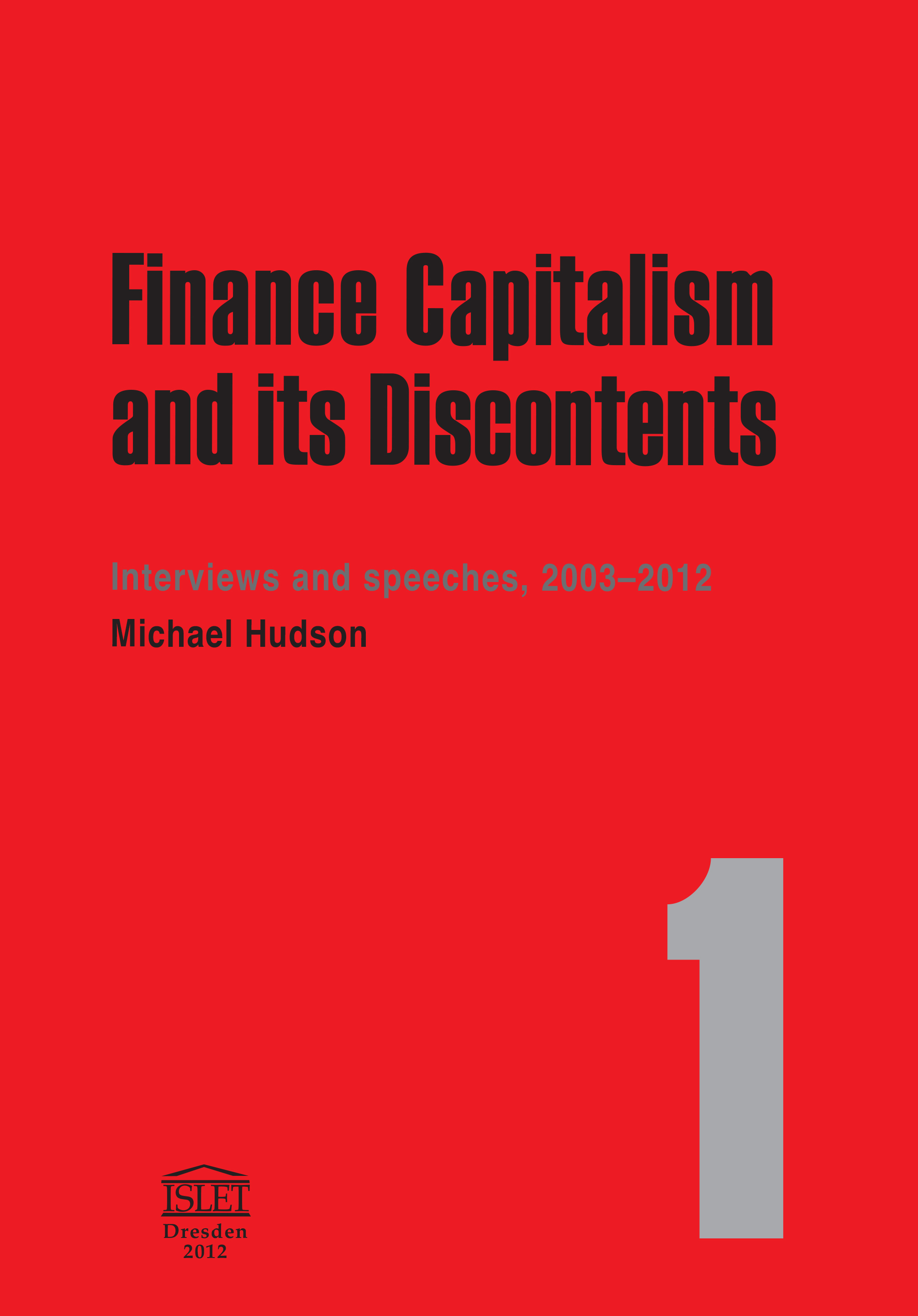 Finance Capitalism & Its Discontents on Kindle