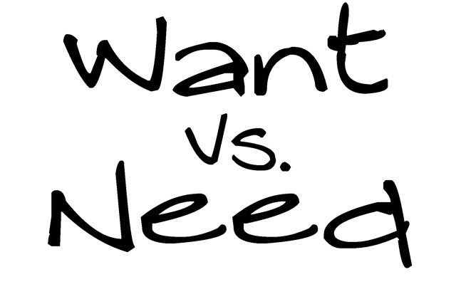 Want-vs-need